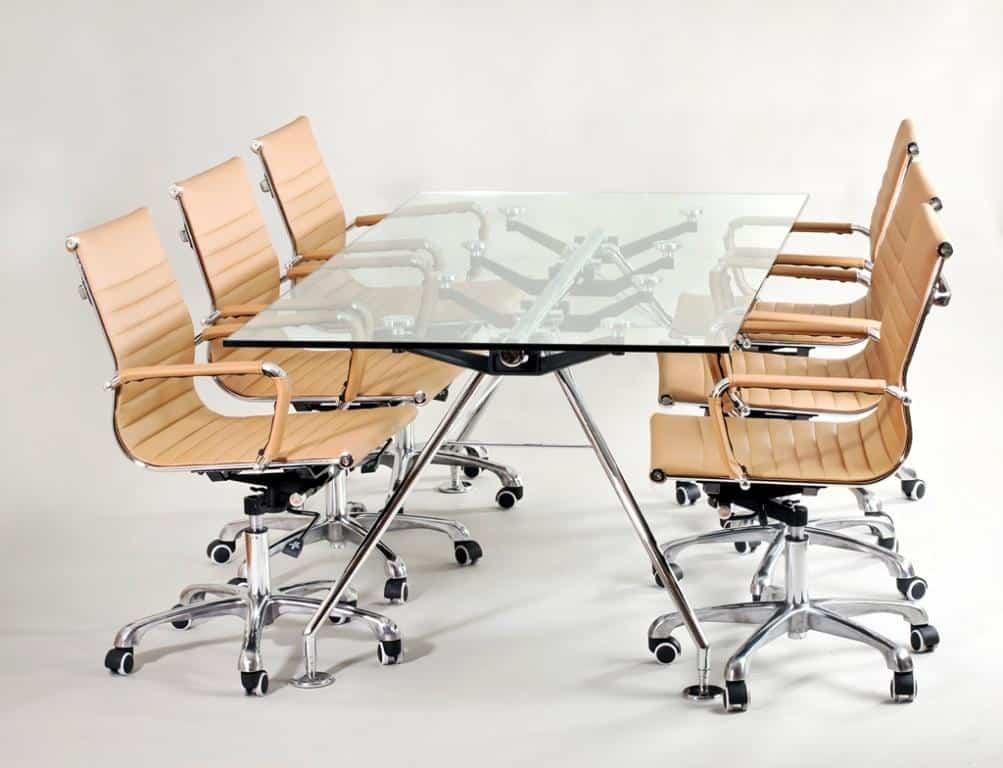 שולחן ישיבות מזכוכית דגם 923